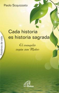 Cada historia es historia sagrada (Paulinas)