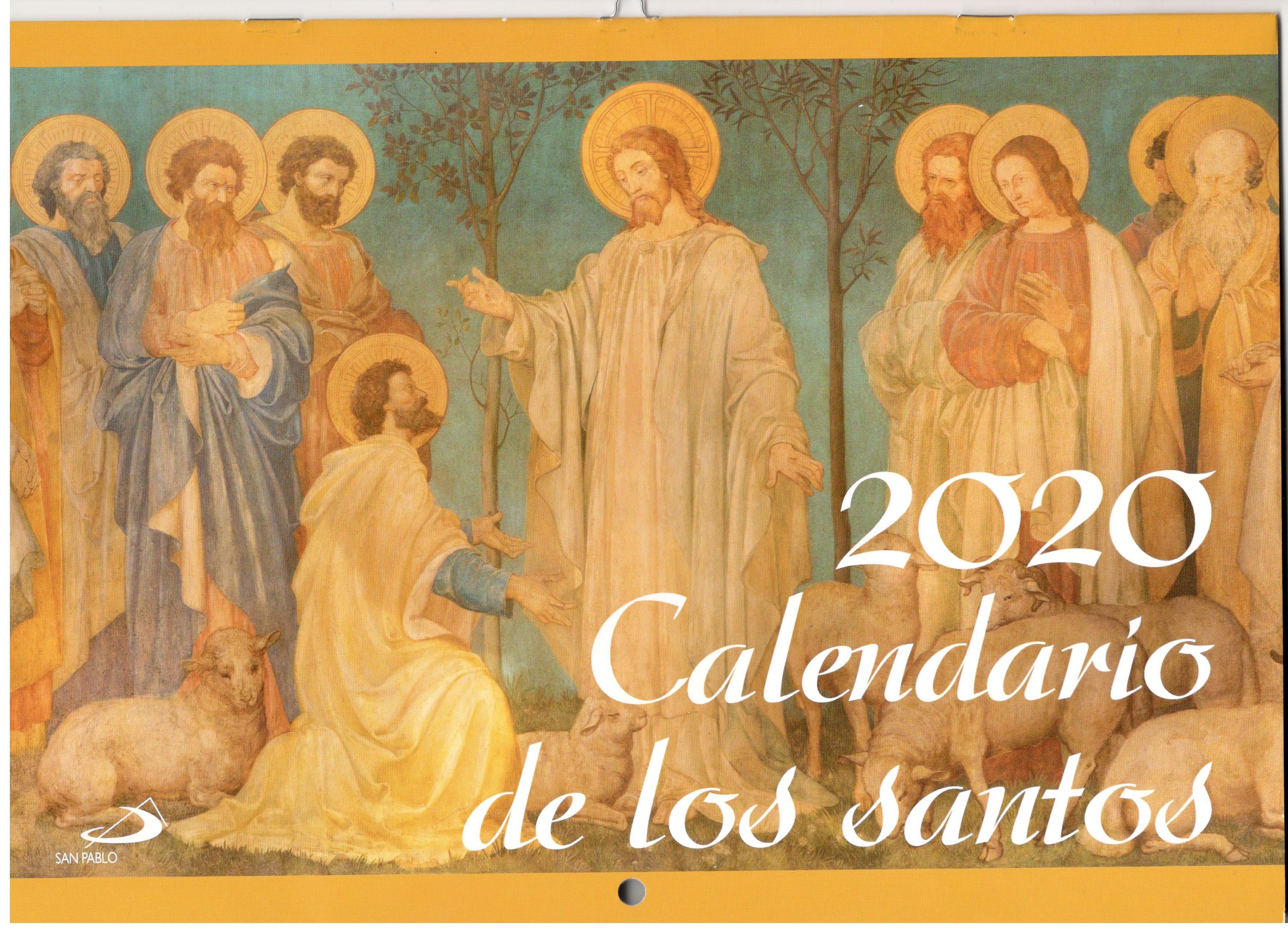 CALENDARIO DE LOS SANTOS PARED 2020