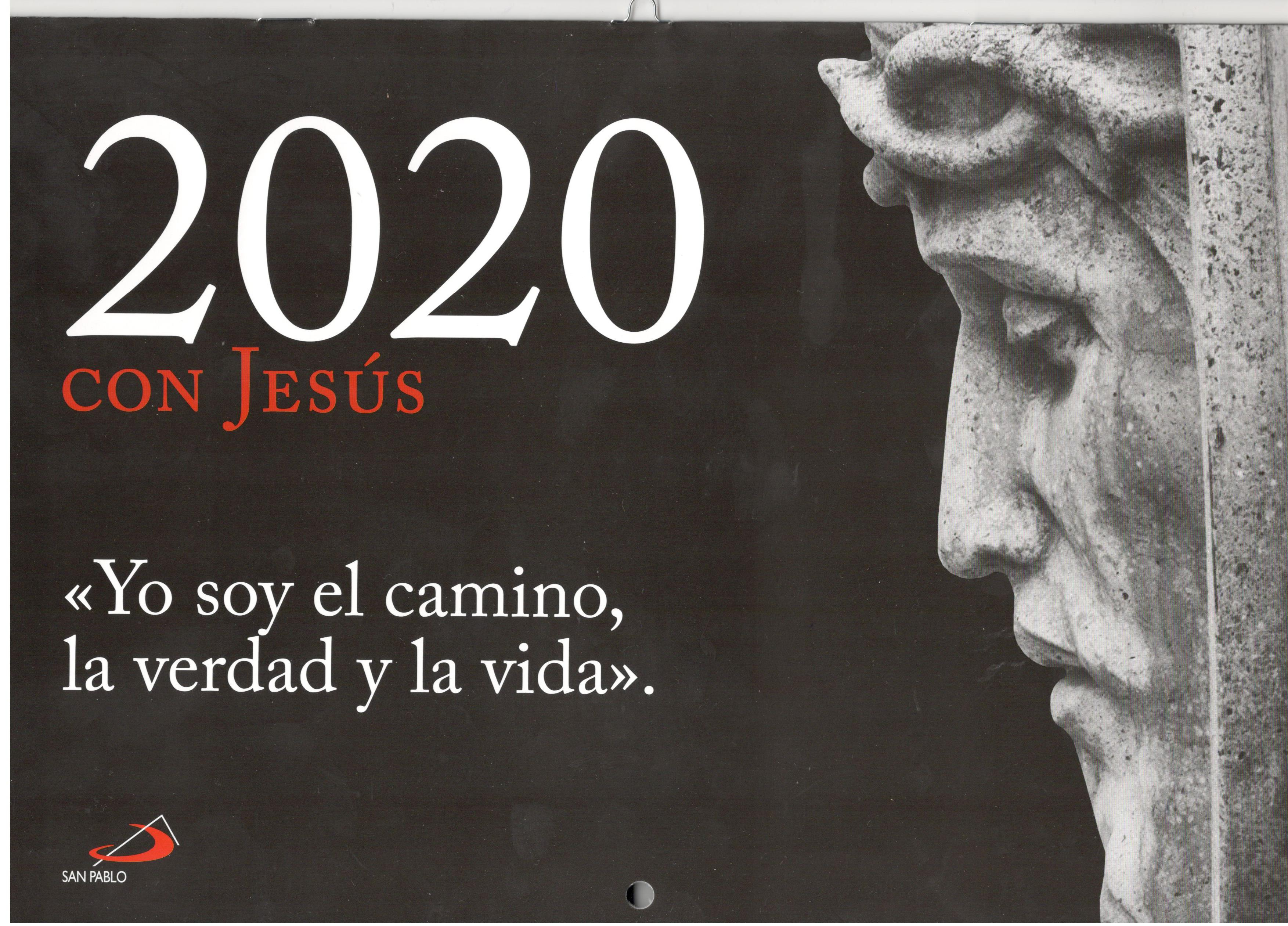 CALENDARIO CON JESUS PARED 2020